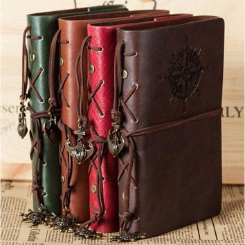 """Traveler's Handbook"" Travel Diary Notebook Faux Leather Cover Bound Any Year Journal"