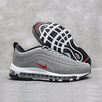ONETOW Best Online Sale Nike Air Max 97 LX Swarovski Crystal METALLIC Silver Bullet Running Shoes Sport Shoes 927508-001