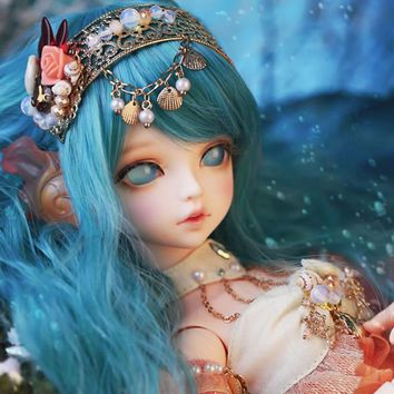 New Arrival 1/4 BJD Doll BJD/SD Fashion Cute Serin Rico Fish Mermaid Resin Doll For Baby Girl Birthday Gift