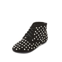 STUDDED LACE-UP ANKLE BOOTIE