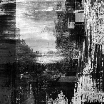 Abstract Black and White Photo Backdrop 8x10 - LCTC3014 Last Call