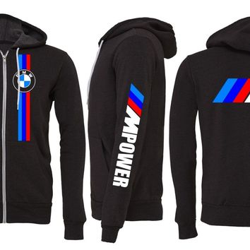 bmw zipper hoodie bmw m3 m4 m5 mpower 335 from evil eye llc. Black Bedroom Furniture Sets. Home Design Ideas