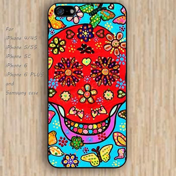 iPhone 5s 6 case skull flowers skull pink Dream catcher colorful phone case iphone case,ipod case,samsung galaxy case available plastic rubber case waterproof B472