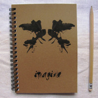 Imagine with Ink blot - 5 x 7 journal
