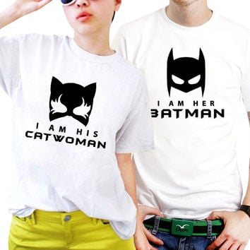 Catwoman And Batman Superhero Marvel Couples Matching Shirts, Couples T Shirts, Funny Couple Shirts