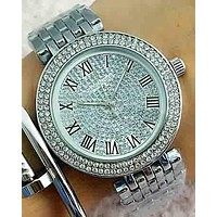 MK Michael Kors 2018 Trendy Stylish Men's and Women's Quartz Watches F-Fushida-8899 Silver