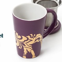 Mate Purple Elephant Perfect Mug - Tea mug with Stainless Steel Infuser Available at DavidsTea