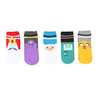 Adventure Time Varsity No-Show Socks 5 Pair