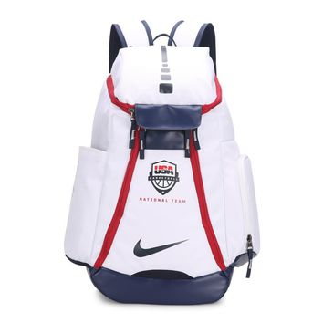 HCXX 263 Nike USA Olympic version of NBA star KD durant backpack 54-30-23cm White Red