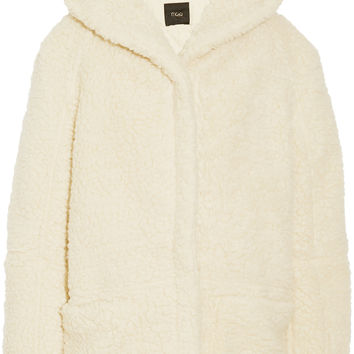 Maje - Girofard hooded faux shearling coat
