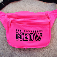 #Meow Fanny Pack - Neon Pink   San Marvelous