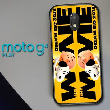 Snoopy And Charlie Brown The Peanuts 2015 Movie V 2104 Motorola Moto G4 Play Case