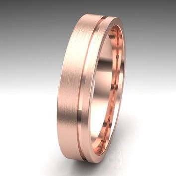 Modern Mens Wedding Ring