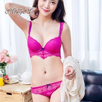 New Arrival 2017 Lace Straps With A Variety Of Sexy Push Up Bra Set, Bra And Panties For Women