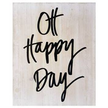 "Oh Happy Day Wood Flushmount 14""x18"" - Threshold™"