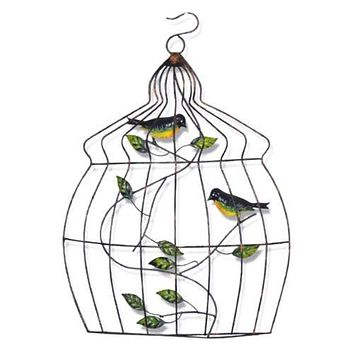 Modern Iron Bird Cage Wall Hanging Decoration   A