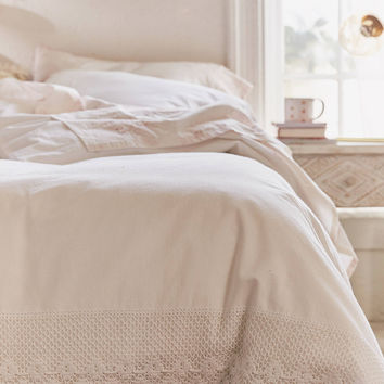 Crochet Trim Duvet Cover | Urban Outfitters