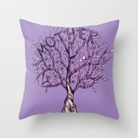 Mother Throw Pillow by ES Creative Designs