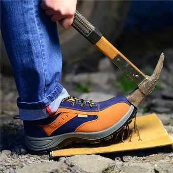 Winter Men Work Safety Shoes Steel Toe Warm Breathable Men's Casual Boots Puncture Proof Labor Insurance Shoes