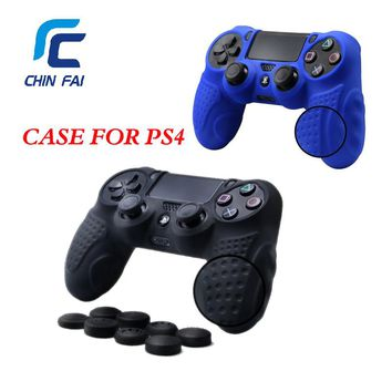 Case for PS4 Controller Skin Case Cover with 8 Thumb Grips Anti-slip Silicone Skin Grip Protector Cover Case For PS4 Controller