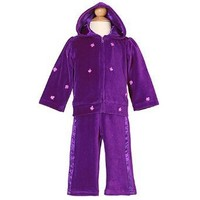 Baby Togs Infant Girls Purple Cup Cake Applique Velour Track Suit 12M $10.00