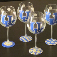 University of Kentucky Themed Polkadot UK Wine by StarrParnell