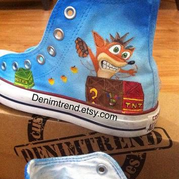Crash Bandicoot Converse Shoes