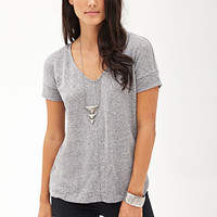 LOVE 21 Drop-Sleeve Heathered Tee