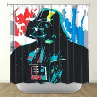 DiaNoche Designs Shower Curtains by Arist Ty Jeter Unique, Cool, Fun, Funky, Stylish, Decorative Home Decor and Bathroom Ideas - Darth Vader