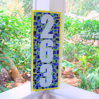 Custom Mosaic Address Sign