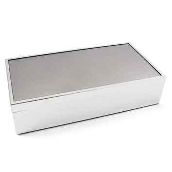 Silver-pltd box with Removable Lid & Velvet Lining