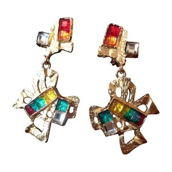 Pre-owned Vintage Christian LaCroix Clip-On Bow Earrings