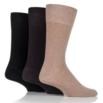 Non Binding Socks for Men or Women in Beige, Brown & Black
