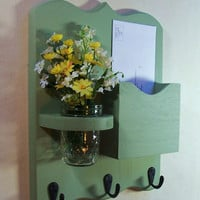 Mail Organizer - Mail and Key Holder - Letter Holder - Key Hooks