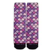 Function - Mermaid Scales Purple Fashion Socks