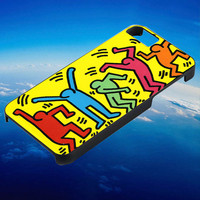Keith Haring yellow for iPhone, iPod, Samsung Galaxy, HTC One, Nexus **
