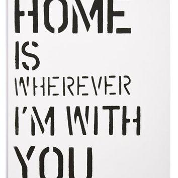 Canton Box Co. 'Home' Wall Art - White