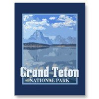 Grand Tetons Reflections Vintage Look Postcards