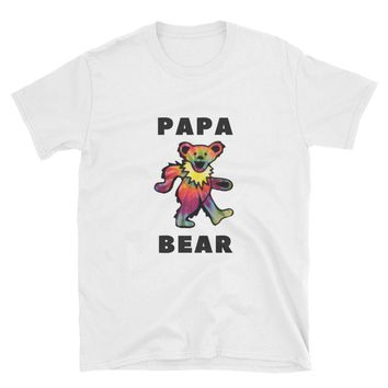 GRATEFUL DEAD SHIRT - Gifts For Deadheads - Grateful Dead Tees - Dancing Bear - Gift for Father, Husband or Brother: Papa Bear T-Shirt