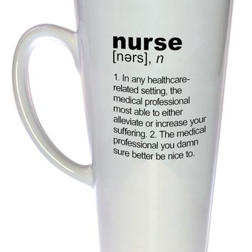 Nurse Definition Tall Coffee or Tea Mug, Latte Size