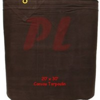 CANVAS 20x30 Tarp Tarpaulin Cover 16-oz Mildew Rot Water Resistant - Black