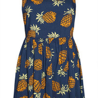 Carmen Navy Pineapple Dress