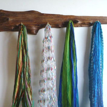 Divine Driftwood Rack Displays Your Jewelry,  Scarves or Ties-- Makes a Perfect Gift!