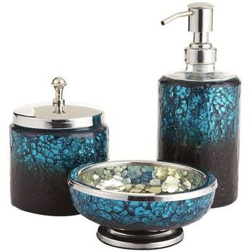 Peacock mosaic bath accessories from pier 1 imports things i for Mosaic bath accessories