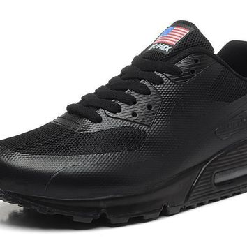 Nike Air Max 90 Flag Triple Black Men Women Running Sneaker