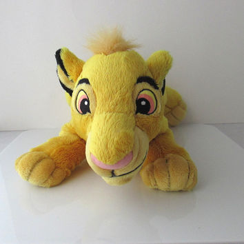Lion King Lying Simba Plush Stuffed Toy Disney 12""