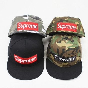 Supreme camouflage hat couple baseball hat male and female hat