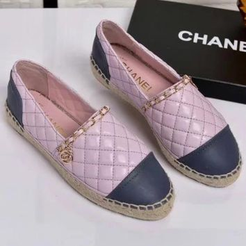Chanel Fashion Casual Espadrilles Flats Shoes