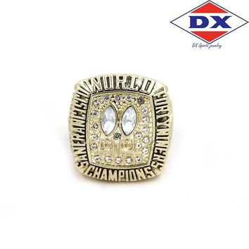 Drop shipping zinc alloy 1984 San Francisco The 49ers Championship Rings set With Wooden Box Support for custom