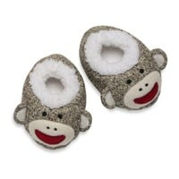 Baby Starters® Sock Monkey Plush Slippers in Tan